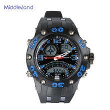 2015 New Quartz MIDDLELAND Men Casual Luxury Sports OutDoor Wrist watch