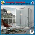 Hsr02-90022 3 face deslizante porta de entrada de canto de vidro cubículo de banheiro