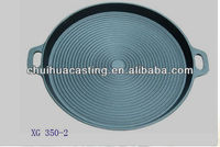 Round Cast Iron Pizza Pan Ribbed