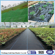 pp woven fabric as weed control mat/ground cover/silt fence/landscaping