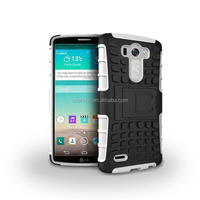 2-in-1 Hybrid Plastic Shockproof Rubber Rugged Phone Cover for LG G3