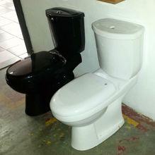 sanitarios wc cuarto de baño de cerámica de color negro inodoro con tanque de agua