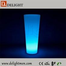 illuminated 16 color change led flower pot/vase