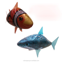 air flying toy/NEW Remote Control Air Flying Shark+Fish Inflatable Toy ,Sky Swimmers,Funny RC Model Swimming In The Air ,Gift
