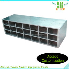 2015 New design 100 pair shoe rack stainless steel shoe cabinet