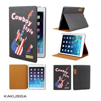 H&H hot sell jean leather for ipad case