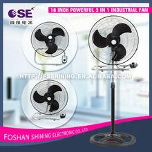 18 pulgadas de gran alcance en 3 1 industrial del ventilador eléctrico de potencia baratos pedestal ventilador de pie fs-45-301