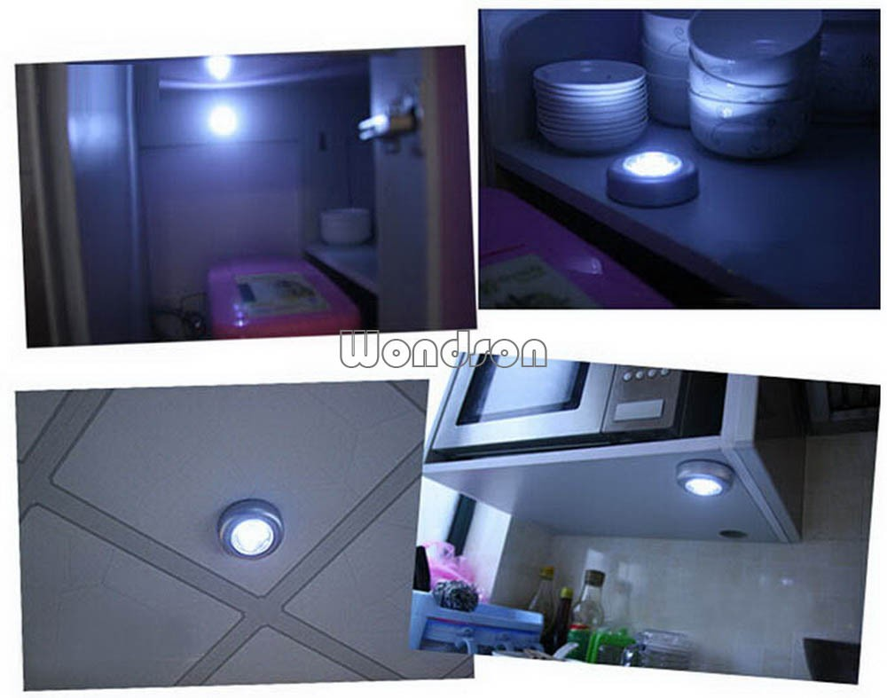 6000k White 3 Led Aaa Battery Powered Round Stick Touch Lamp Tap Product Pictures