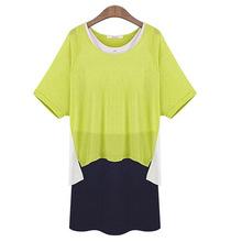 Spring summer women's fashion Slim round neck short-sleeved dress two-piece dress bottoming 2012