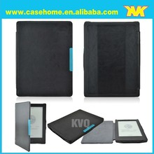 Flip Stitching Magnetic leather case for kobo aura hd 6.8 ereader factory price