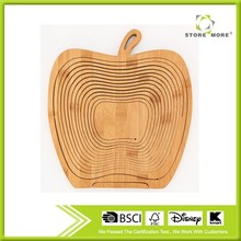 Bamboo Folding Apple Basket - Stores Flat