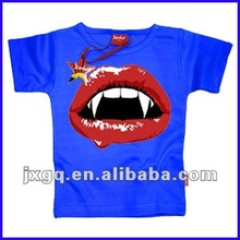 Wholesale child t-shirt clothing fashion design printed branded cotton kid t-shirt