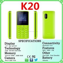 Teléfono muestra libre para el primer fin K20 telefónica bar