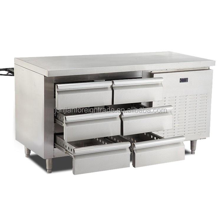Werktafel keuken op wielen mobiele inklapbare inox for Rvs ladenblok op wielen