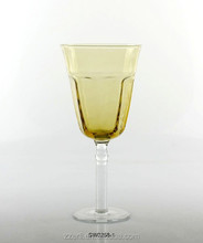 New product and promotion wine glass,colored goblet with long stem,drinking glassware