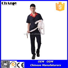 Fashionable Short Sleeve Chinese Collar Office Uniform
