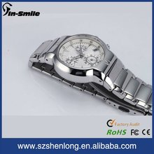 Stainless steel men watch chronograph