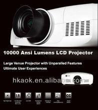 10000 Lumens, 3LCD support 1920x1200Pixels,large outdoor venues projectors 3 LCD Projector