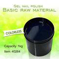 #40264 Esmalte de Uñas En Gel de Color Transparente Al Por Mayor, Esmalte En Gel de Color Transparente de Materia Cruda