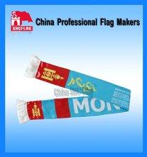 2012 Economy strip new polyester promotion custom scarf and satin sport fan scarf