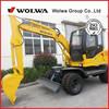 DLS865-9A 5.8Ton small wheel excavator with Japan Kawasaki hydraulic pump