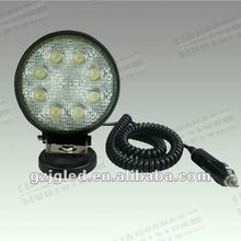 Factory price! 2012 Hot sale! 24W 10~30V led truck offroad work light LED lighting projector auto led light 12v/24v dc used utv