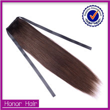 2015 new style most popular virgin two tone human hair ponytail
