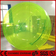 TPU/PVC material fluorescent green inflatable walking ball