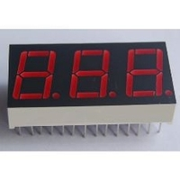 7- segment led display 3 digits led display 0.4 inch with 3 years factory guarantee time