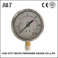 63mm 0-7bar/0-100psi stainless steel dry wika pressure gauge