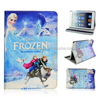 Popular Frozen Elsa Anna Olaf Sven PU Leather Case For iPad 2.3.4