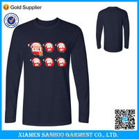 Fast Delivery Cheap Wholesale Christmas Print Plain Long Sleeve T-Shirts
