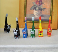 Fast selling cheap products wooden animals art&craft carved wooden cat wood craft