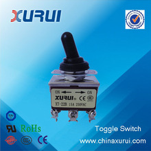 UL&RoHS DPDT with protecting cap on on toggle switch china supplier