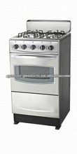 Kitchen range free standing gas stove with oven/stainless steel appliance for cooking range