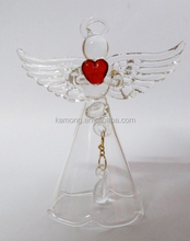 New style wholesale glass crystal christmas angel ornaments