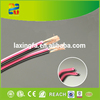 Hangzhou high quality high end speaker cable transparent black and red flat speaker cable/ outdoor speaker cable