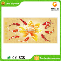 2015 wholesale beautiful home decoration fish picture 5D diy painting