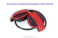 Light Weight New free samples sport bluetooth headset with MP3 Player and TF