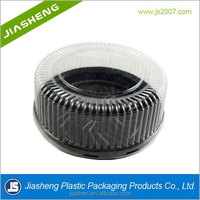 Customized prfessional Round food grade plastic Clear PET Blister Cake/bread /dessert box with dome cover/lid