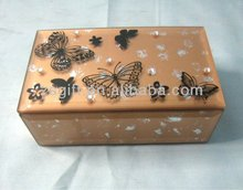 exquisite brown flat glass jewelry box handicrafts