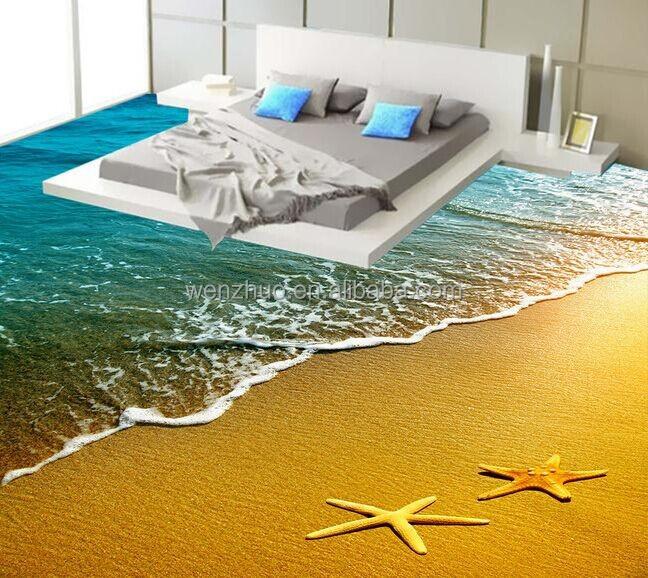 Digital print 3d picture bathroom wall and floor tile for Salle de bain sol 3d