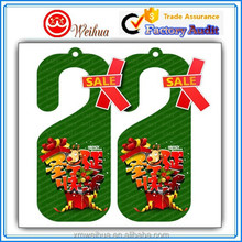 Christmas decoration custom printed paper hangtags for sale, price tags