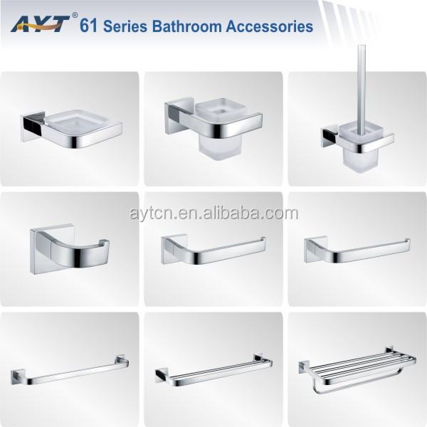 Stainless steel price bathroom accessories sets bath for Bathroom accessories list