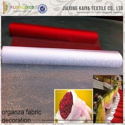China made colorful flower/gift warpping tulle fabric with glitter