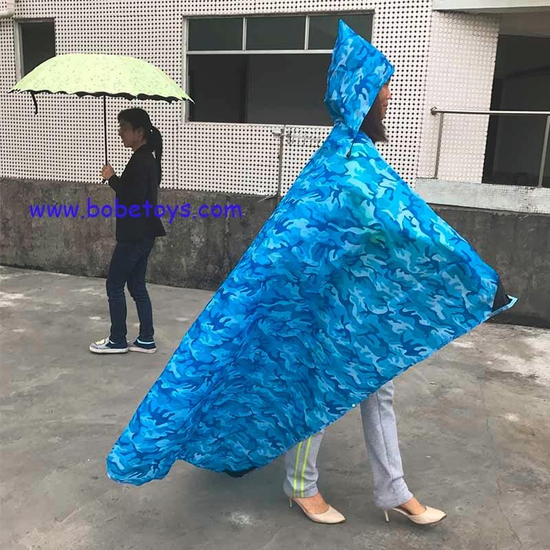 2017 Novo Design À Prova D' Água Leve Capa De Chuva De Bolso Multifunções Cobertor Com Tampa