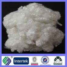 100% polyester recycled 7D/15Dmm HCS polyester staple fiber raw white