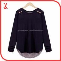 FR03 Women Europe and America Autumn long-sleeved t-shirt big yards thin bottoming shirt