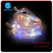 Promotion goods led copper wire tube string lights for flashing outdoor