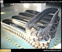 Rubber track shoe and rubber pad for mini excavator and farm machine